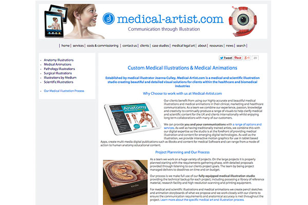 Our custom medical illustration website