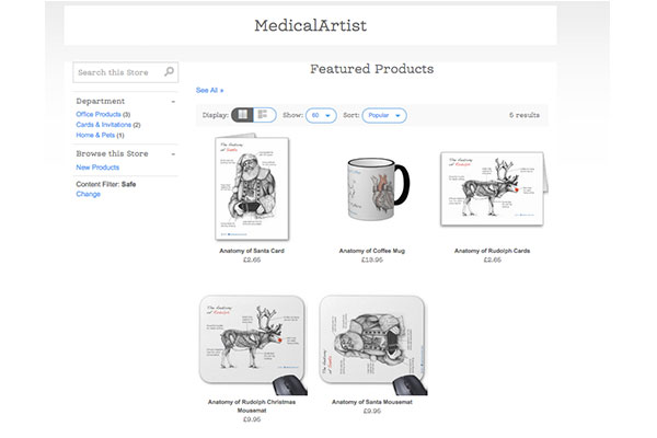 You can buy a range of products with some of our medical illustrations on them from this Zazzle Store